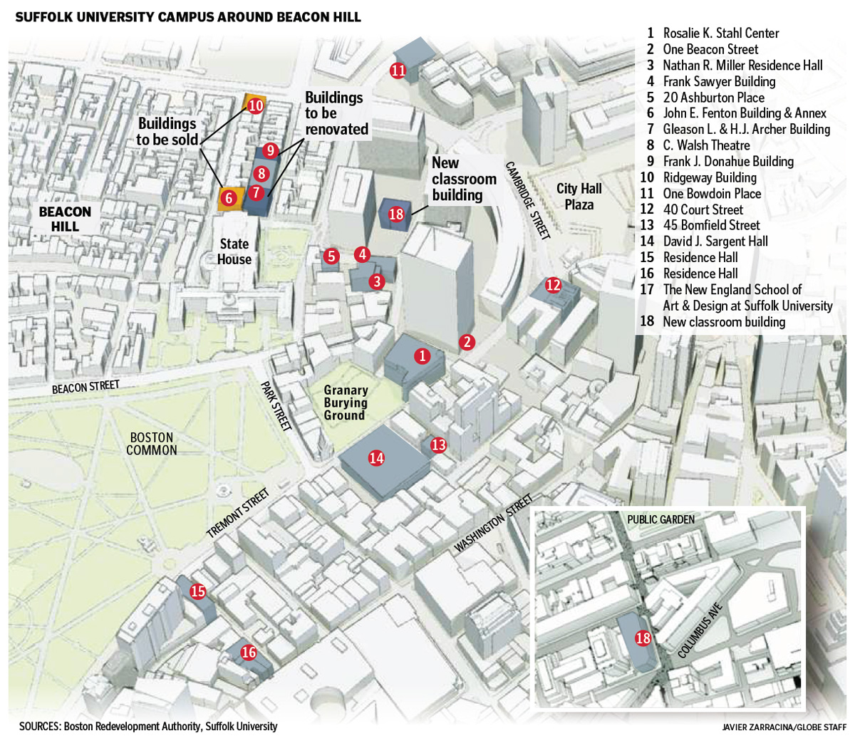 Suffolk University shifts core of campus downtown