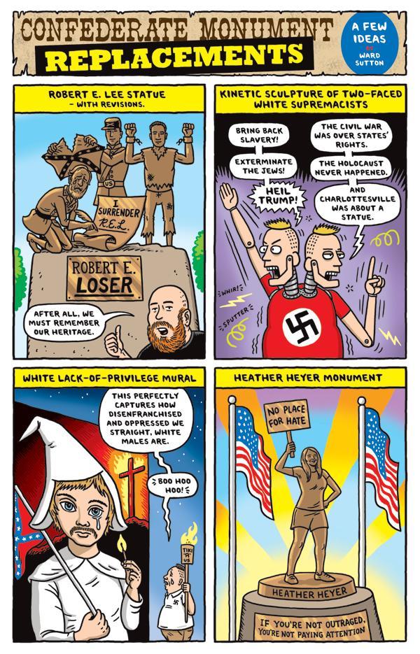 Heather Heyer Cartoon