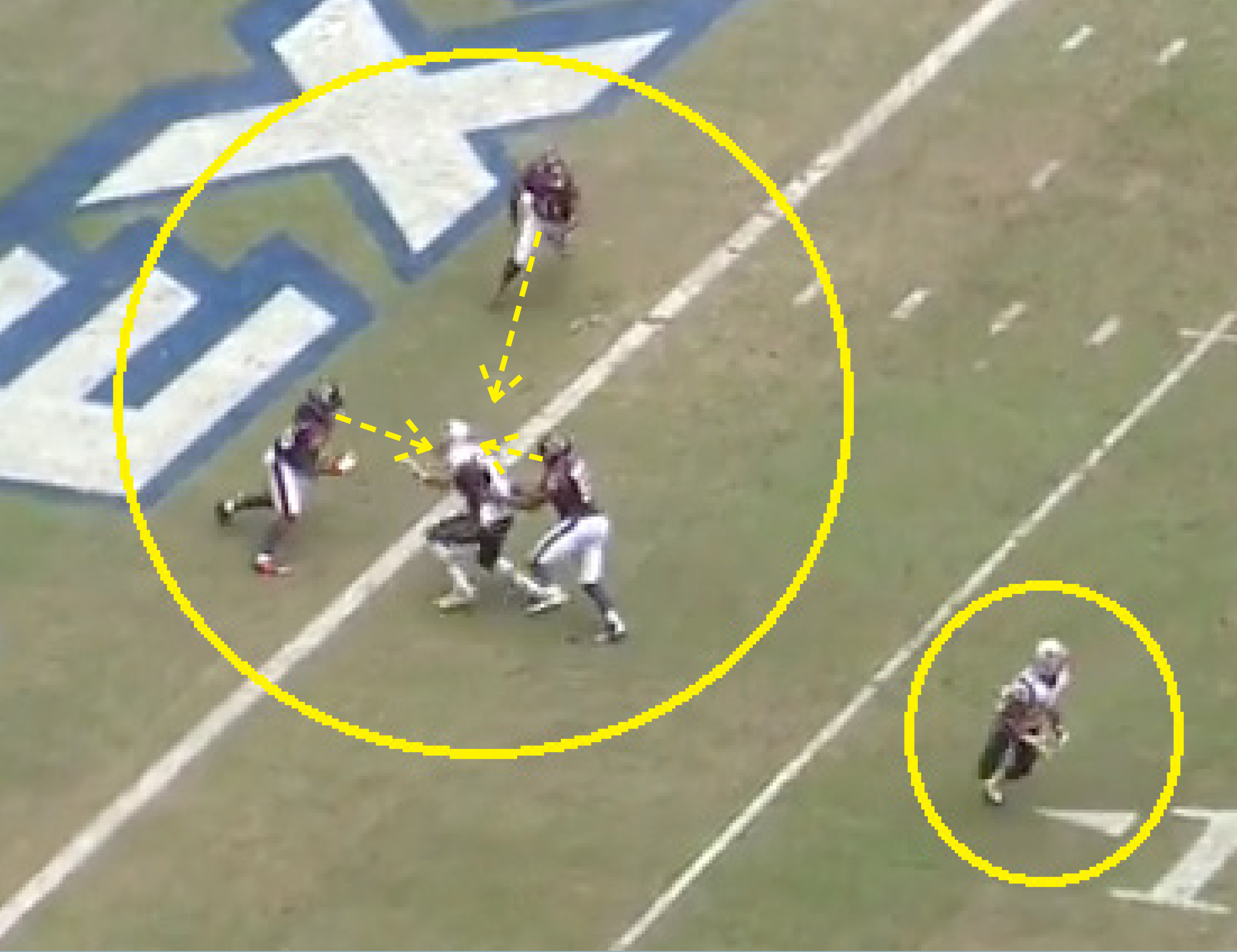 and look at him draw three defenders while shane vereen sits wide open for an easy touchdown - Easy Sports Drawings